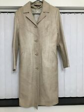 Woman Leather Coat. Size S. Pre-owned.