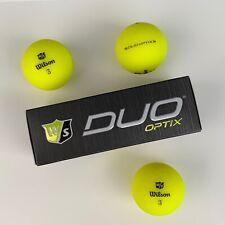 Wilson Staff DUO Optix Golf Balls - MATTE YELLOW - 3-Ball Sleeve - NEW FOR 2020