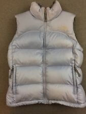 THE NORTH FACE Womens Blue 700 GOOSE DOWN Fill NUPTSE PUFFER VEST Jacket Medium