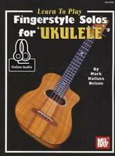 Learn To Play Fingerstyle Solos for Ukulele TAB Music Book with Audio How Method