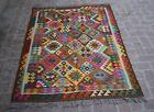 4'10 x 6'8 ft Handmade afghan tribal best colorful khotrang wool area kilim rug