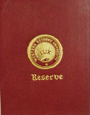 LUX Western Reserve University Seal Antique c1910 Red Leather Tobacco Premium 2