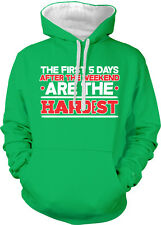 The First 5 Days After Weekend Are Hardest Five Work Two Tone Hoodie Sweatshirt