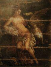 Ecole vénitienne du XVIe siècle Léda et le cygne huile sur toile anonyme