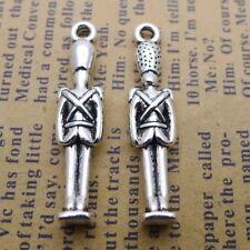 10pcs Charms Soldier Guard Tibetan Silver Beads Pendants DIY 7*31mm