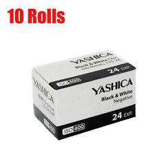 New 10 Rolls Yashica 400 35mm ISO400 135-24EXP B&W Negative Film Fresh 07/2021