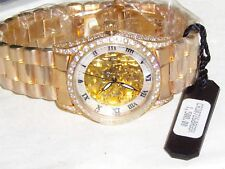 Men's Croton Watch Skeleton Automatic w/ 10 Mic Gold  Water Resistant