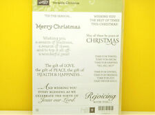 RETIRED Stampin Up Versatile Christmas Rejoicing with you Love Peace Season Lord