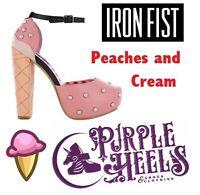 Iron Fist Peaches and Cream Pink Pearl Platforms UK7-8/EU40-41
