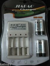 Digital Power Charger w 4pcs 600mAH Ni-CD AA rechargeable battery nicd nimh