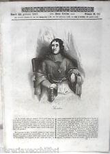 ANTICA STAMPA INCISIONE 1844 Fenelon Vita campestre  El Kaf Beylik di Tunisi e