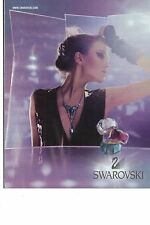 PUBLICITE ADVERTISING 2011   SWAROVSKI bagues bijoux en cristal