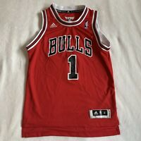 Adidas Chicago Bulls Sewn Derrick Rose Jersey Youth Size Medium Red Black
