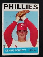 1964 Topps Baseball Card # 396 Dennis Bennett - Philadelphia Phillies