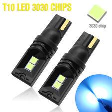 2X T10 LED Ice Blue 3030 4SMD Bulb Super Bright Car Wedge Side Light W5W 168 194