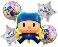 Pocoyo & Friends Balloon Set Happy Birthday Party Decoration 5 Balloons & Ribbon