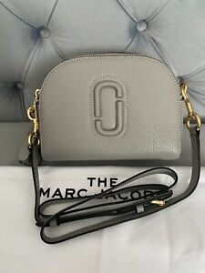 Marc Jacobs Shutter Camera Peblled Leather Crossbody Bag in Gray