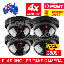 4x Dummy Fake Camera Surveillance CCTV Security Dome Camera Flashing LED Light