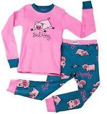 Lazy One Girls PJ Pajamas Sleepwear BED HOG Pink SIZE 6