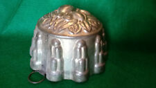Antique Vintage Metal Tin Ice Cream Jello Pudding Fruit Mold Pear Marked Germany