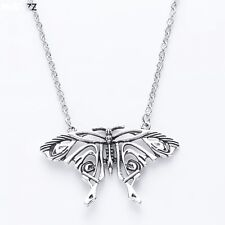 Necklace Pendant Silver Antique Butterfly Pendant Big Butterfly Costume Necklace