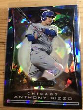Anthony Rizzo 2020 Panini Chronicles Titan Blue Cracked Ice 36/99.   Cubs