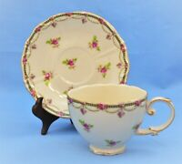VINTAGE GRACE TEAWARE SUP AND SAUCER SET TINY FLOWERS