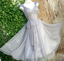 BNWT £120 Stunning&Ethereal PHASE EIGHT Goddess: silver/grey tulle dress sz 14