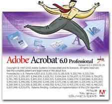 ADOBE ACROBAT 6. 0 PROFESSIONAL - EN ESPAÑOL, italiano,  Nº DE SERIE ORIGINAL