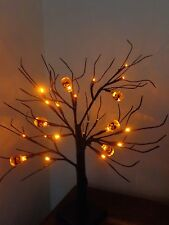 Spooky Halloween Party/Prop 24 Orange LED Pumpkin Tree Lights/Window/Table/Shop