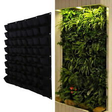 64 Pockets outdoor Vertical Greening Hanging Wall Garden Plant Bags Wall Planter