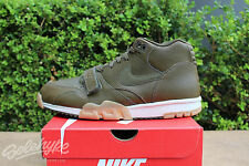 NIKE AIR TRAINER 1 MID SZ 10 DARK LODEN GUM LIGHT BROWN 317554 300