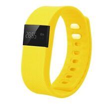 Fitness Tracker smart Bluetooth Sleep Calorie Counter Pedometer Sport fit yellow