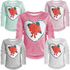 Langarm Mädchen-Tops, - T-Shirts & -Blusen aus Baumwollmischung mit Blumenmuster
