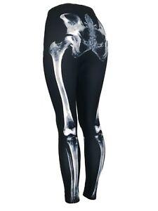 X-Ray Skeleton Legs Bones Black & White Curvy Size (10-18) Leggings Pants Soft