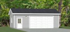 30x20 2-Car Garage -- 600 sq ft -- PDF Garage Plan -- 9ft Walls -- Model 1F