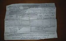 1950 American Passenger Declaration Form Rms Queen Mary Cunard White Star Line