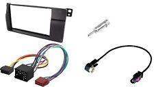Set Radioblende BMW 3 ( E46 )  ISO + Antenneadapter 2DIN Einbaurahmen Autoradio
