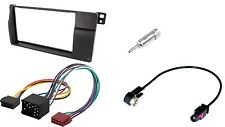 Set façade radio BMW 3 (e46) ISO + antenne adaptateur 2din installation cadre autoradio