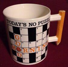 Crossword Puzzle Mug with Pencil Handle~Susan Green~Shafford~1983