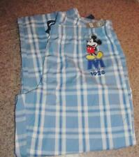 Disney Store Men's Lounge Pants 2XL - Blue Plaid NWOT