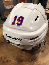 New York Rangers Jesper Fast Game Used Helmet Last #19 Before Retired Steiner