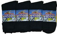 Womens Ladies Thermal Socks Extra Warm Quality Plain Black Socks Size UK 4-6