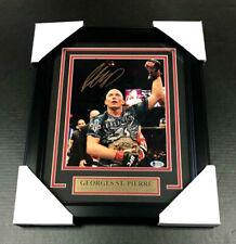 GEORGES ST. PIERRE #3 UFC CHAMPION AUTOGRAPHED SIGNED FRAMED 8x10 PHOTO BAS COA