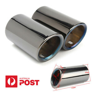 Pair Stainless Steel Car Tail Exhaust Tip Pipe For BMW E90 E92 325 328i 3 Series