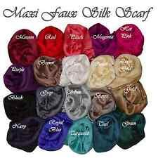 New Shimmery Faux Silk Hijab Maxi Scarf Shawl Wrap Sateen Shiny Big Headscarf
