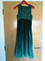 Ladies H&M Dress Size 8 Green Ombre Velvet Party Evening Wedding Smart