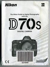 Nikon D70s Camera Instruction Manual. More Original Books & User Guides Listed