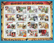 Foglietto BF 1999 SAN MARINO OPERA TEATRO LIRICO CARMEN FAUST TOSCA AIDA VERDI