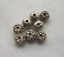 50 pcs Tibetan silver Lotus flower Charm Spacer beads 8x6 mm